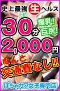 爆安2000円ホテルヘルス キスだけじゃ我慢できないの! 爆乳・肉食系・ぽちゃカワイイ専門店