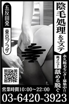 陰毛処理 東京プラザ